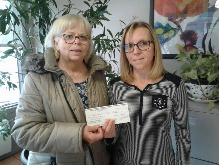don de 300.00$ de l'Église évangélique chrétienne de Lorraine